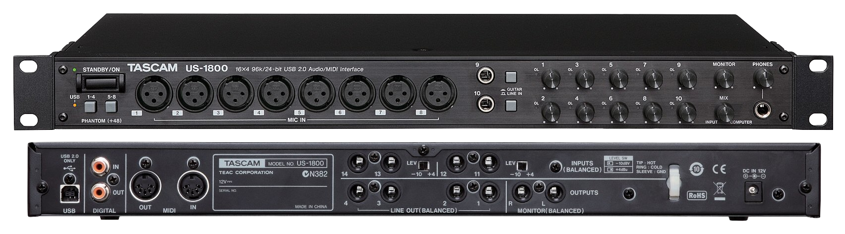 TASCAM US-1800 AUDIO INTERFACE DESCARGAR CONTROLADOR